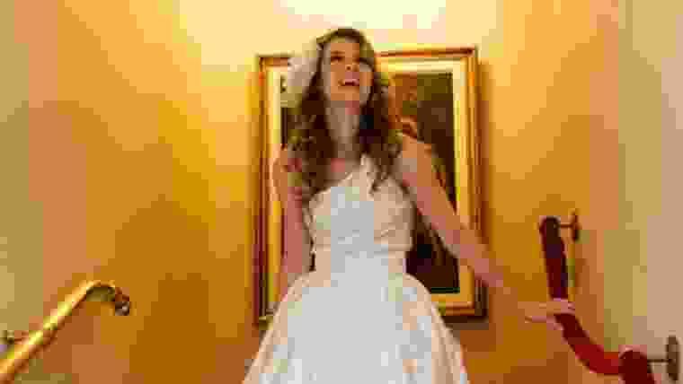 Vestido curto para noiva