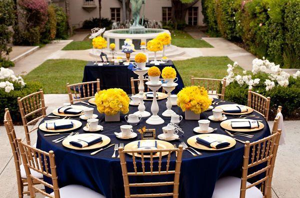 decoracao azul e amarelo casamento : decoracao azul e amarelo casamento:Decoração para casamento nas paletas de cores azul e amarelo