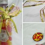 Lembrancinha para casamento: Garrafinha em PVC com balinhas de corações