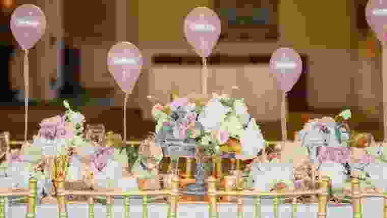 balões no casamento