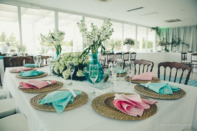 decoracao de casamento azul amarelo e rosa : decoracao de casamento azul amarelo e rosa:Decoração de casamento nas paletas de cores rosa e azul turquesa