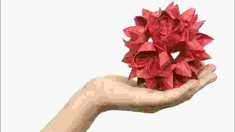 lembrancinha em origami