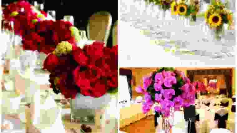 Arranjos de flores mesa convidados casamento