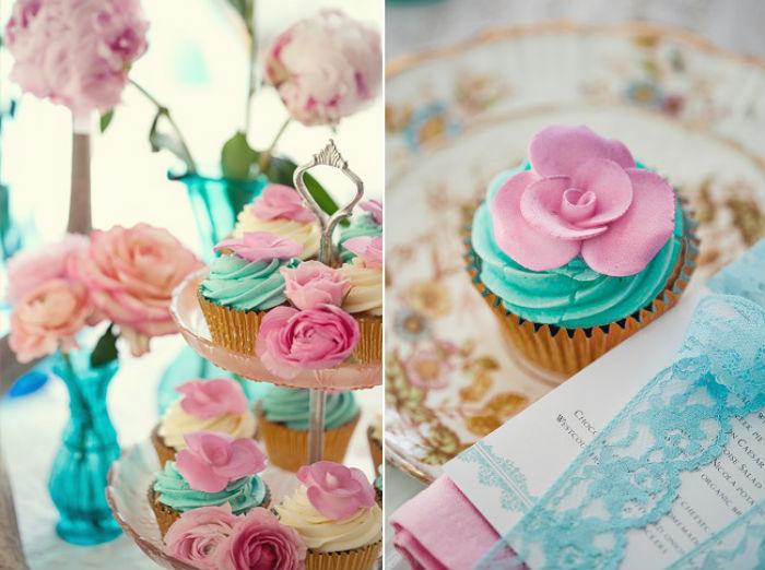 decoracao de casamento azul amarelo e rosa : decoracao de casamento azul amarelo e rosa:Azul Tiffany para decoração de casamento: uma cor linda e suave para