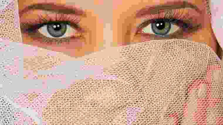 Noiva com olhos claros