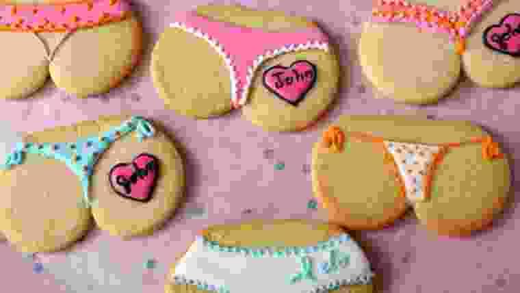 Biscoitos personalizados chá de lingerie