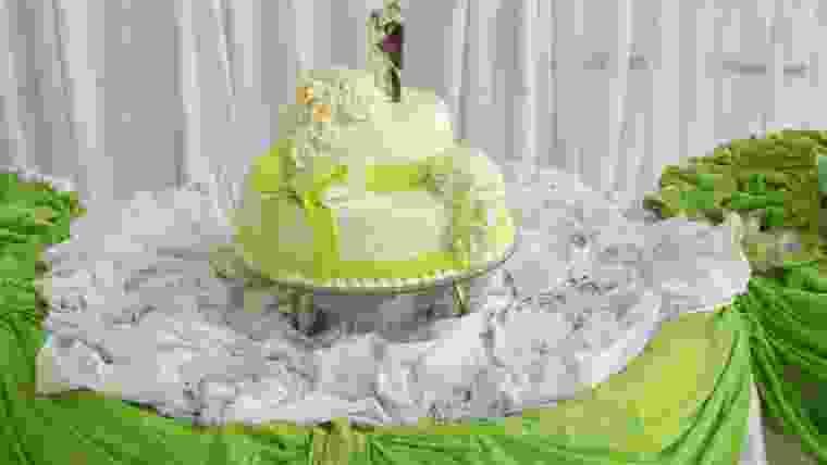 casamento verde limão e branco
