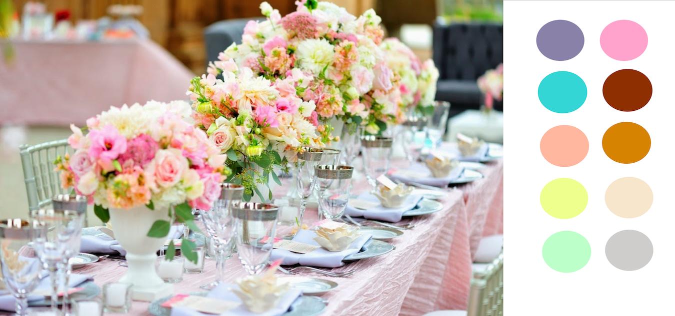 Decoração casamento vintage Conheça as 5 paletas de cores que são