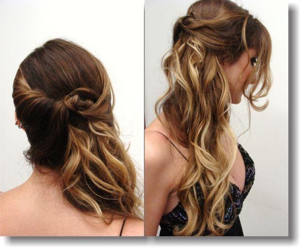 penteados semi presos para madrinhas de casamento na festa