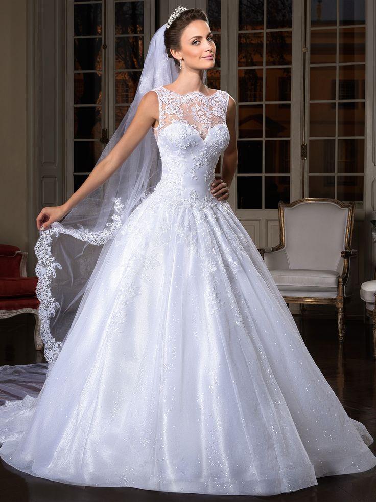 15 fotos de vestido de noiva mais lindos do pinterest for Wedding dress patterns 2017