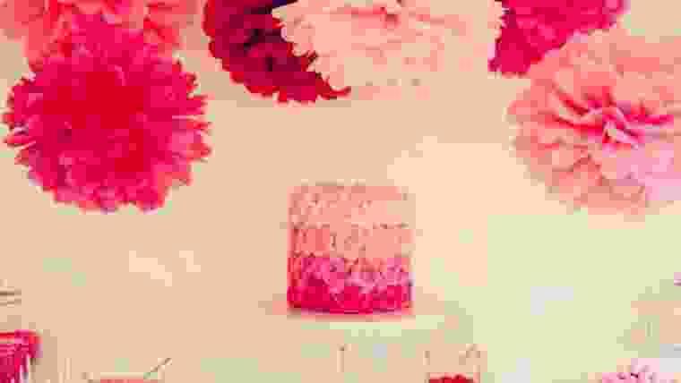 decoração com pompom