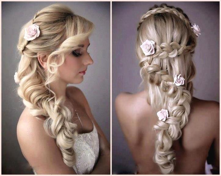 Penteados para casamentos com tranças e flores