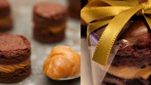 como fazer bem-casado de chocolate
