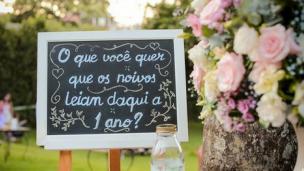 chalkboard no casamento