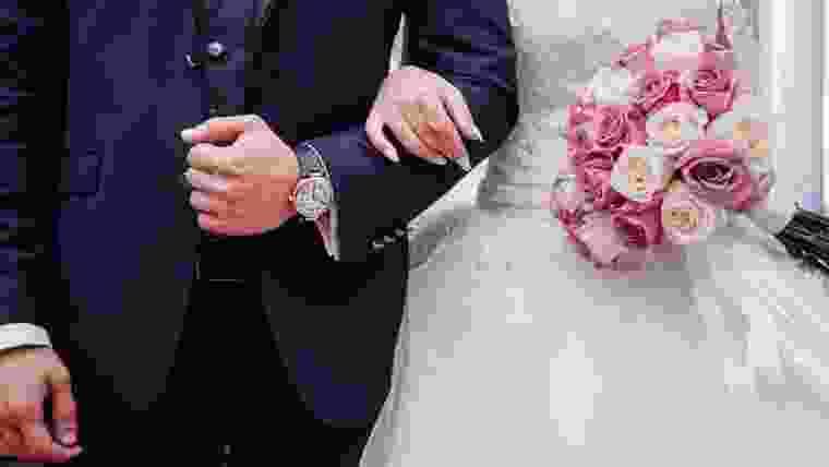 Protocolo de casamento noiva ao altar